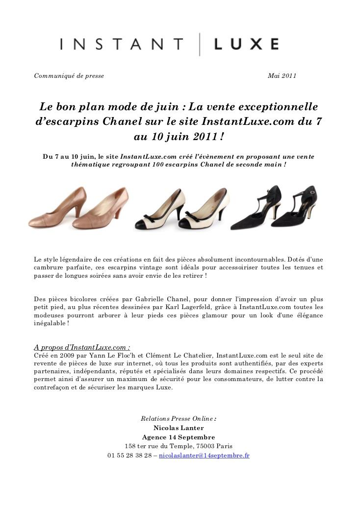 Fabuleux Vente escarpins Chanel XC16