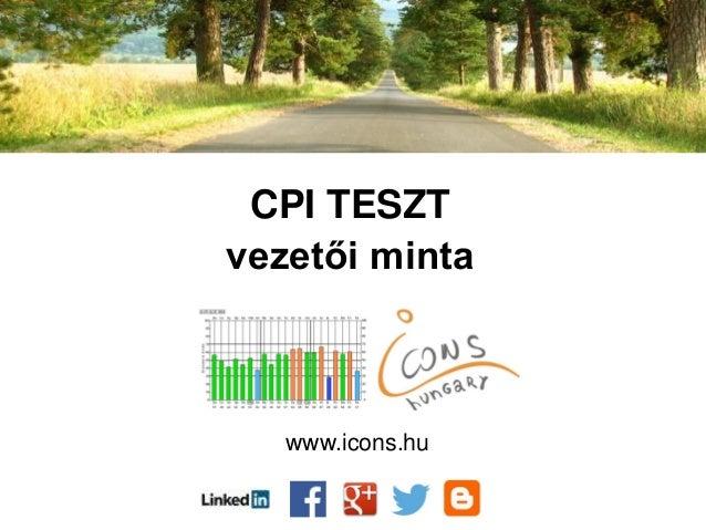 CPI TESZT vezetői minta www.icons.hu