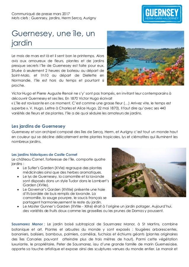 Guernesey Une Ile Un Jardin