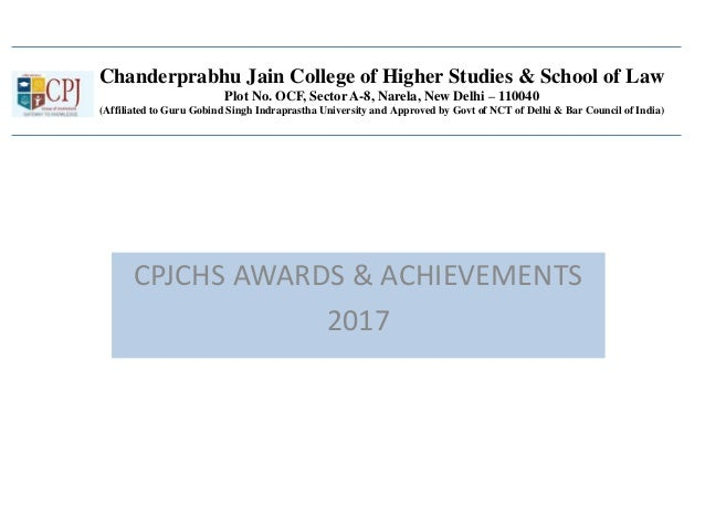 Chanderprabhu Jain College of Higher Studies & School of Law Plot No. OCF, Sector A-8, Narela, New Delhi – 110040 (Affilia...