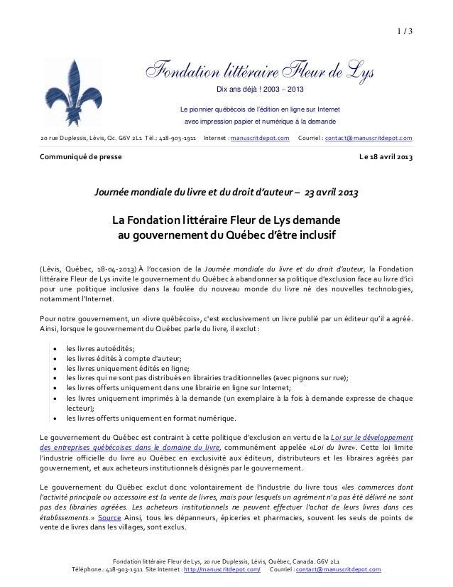 1 / 3Dix ans déjà ! 2003 – 2013Le pionnier québécois de l'édition en ligne sur Internetavec impression papier et numériq...