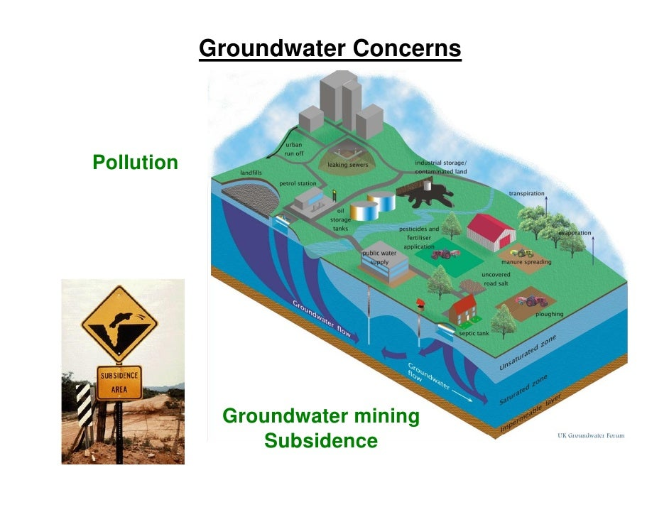 the impact on resources The sources of pollution that impact our water resources can develop at different scales (local, regional and global) but can generally be categorized (table 45) according to nine types.