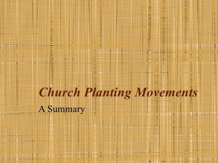 Church Planting MovementsA Summary