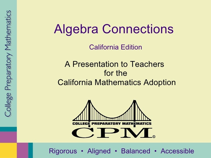 Algebra Connections California Answers