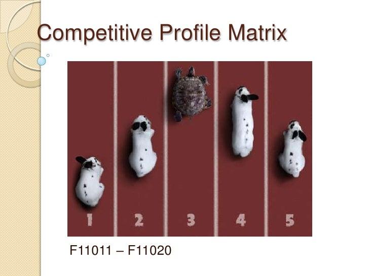 Competitive Profile Matrix   F11011 – F11020