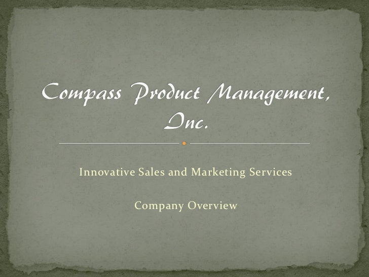 Innovative Sales and Marketing Services          Company Overview