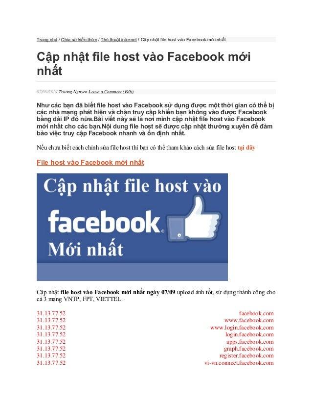 Trang chủ / Chia sẻ kiến thức / Thủ thuật internet / Cập nhật file host ...