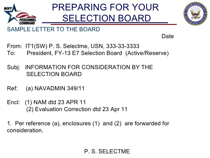 letter to the board