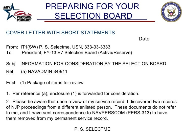 letter of recommendation navy officer promotion board