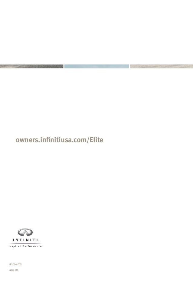 Infiniti Certified Preowned Component Coverage Brochure - Infiniti elite
