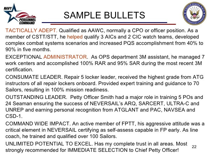 Cpo fitrep observations