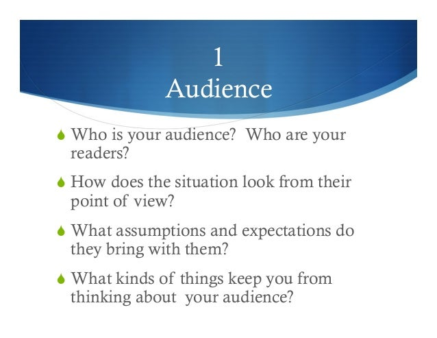 audience expectations essay Not sure how to write good hook sentences  good hook sentences step 1—identify your audience  a good hook sets up expectations about your writing,.