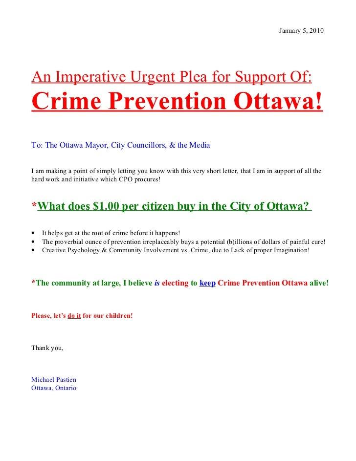 Crime Prevention Ottawa Letter Jan 2 '10