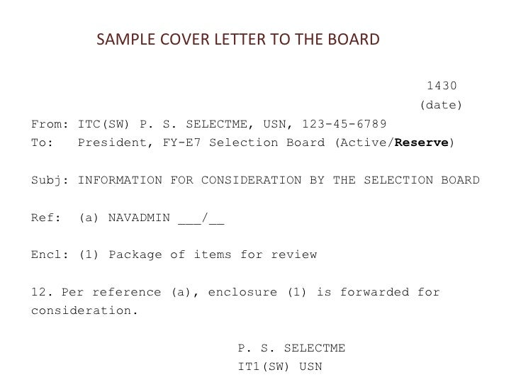 Enclosure Cover Letter Samples 2012 Navy Region Nw Fcpo Symposium Cpo Selection Boards