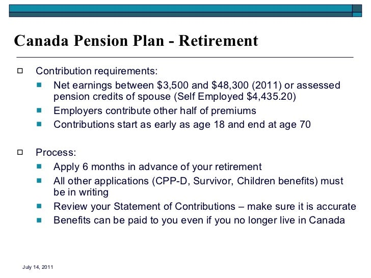 Canada Pension Plan Old Age Security Application 80