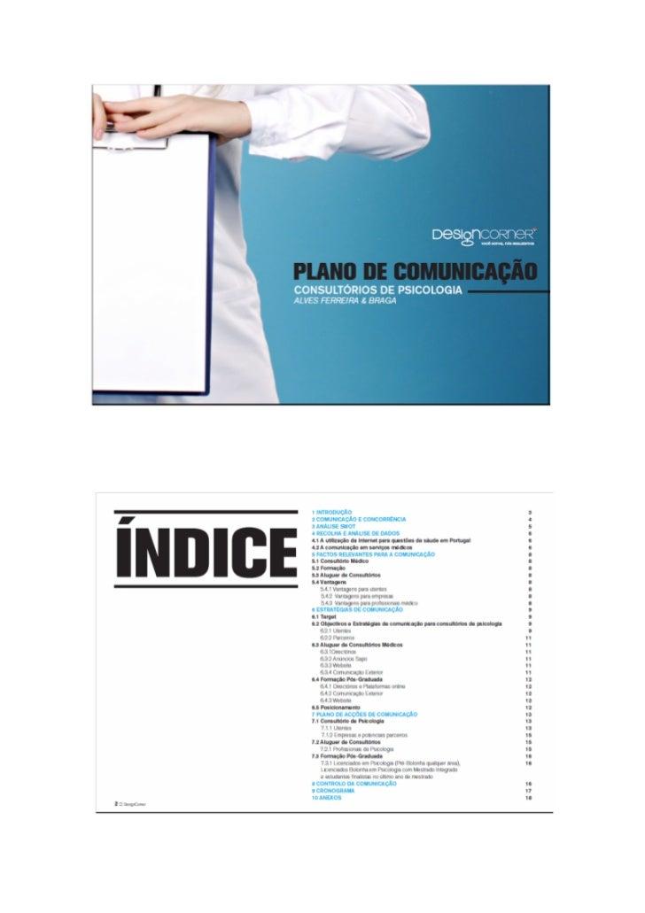 Plano de Comunicação Clinica de Psicologia Pós-Classica