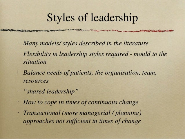 style theory of leadership