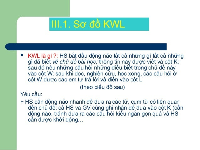 Sơ đồ KWL K(Điều đã biết) W(Điều muốn biết) L(Điều học được) - Khong can do goc cung co cach nhan biet duoc 2 tam giac don...