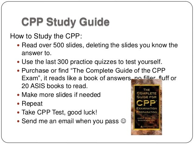 ASIS CPP Study Flash Cards and Quiz