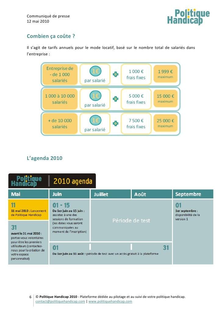 Communiqué de presse 12 mai 2010   Combien ça coûte ? Il s'agit de tarifs annuels pour le mode locatif, basé sur le nombre...