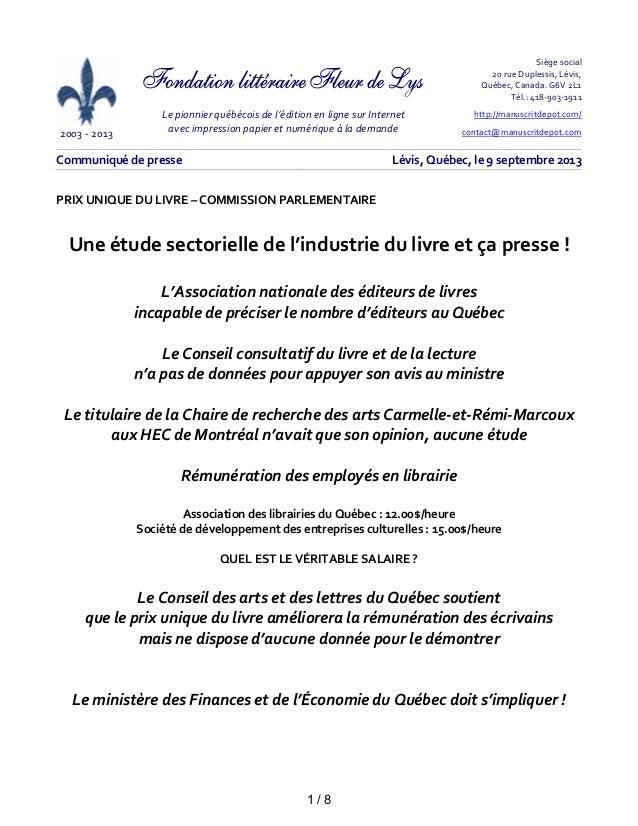 2003 - 2013 Le pionnier québécois de l'édition en ligne sur Internet avec impression papier et numérique à la demande Si...