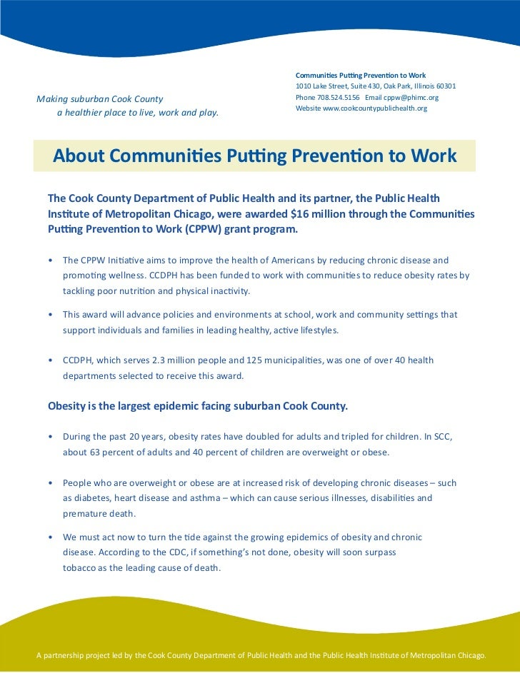 Communities Putting Prevention to Work                                                                          1010	Lake	...