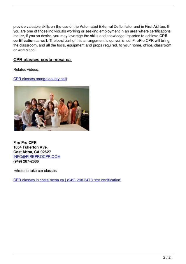 Cpr Classes In Costa Mesa Ca 949 288 3473 8220cpr Certificatio