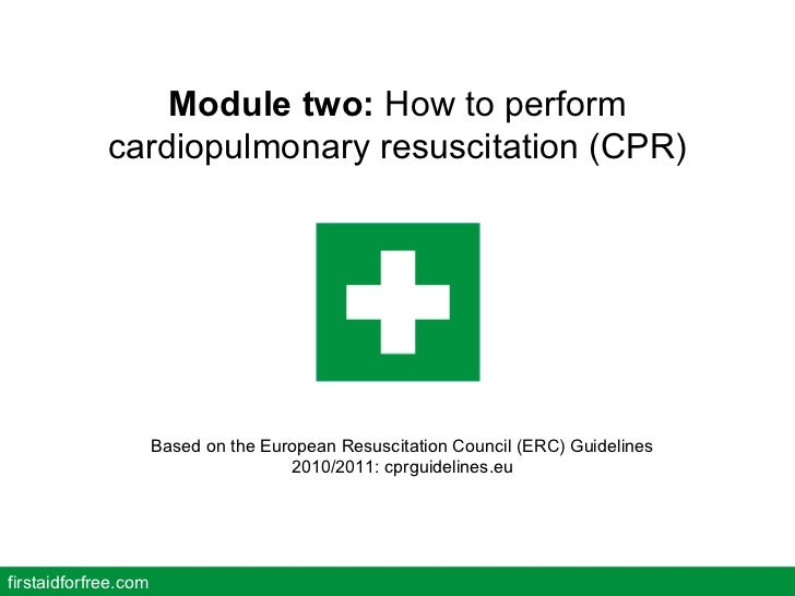How To Perform Cardiopulmonary Resuscitation Cpr Free Online Firs