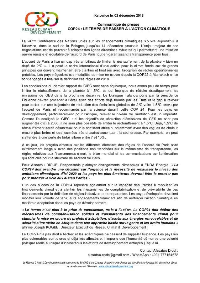 Le Réseau Climat & Développement regroupe près de 80 ONG dans 22 pays africains francophones qui travaillent sur l'intégra...