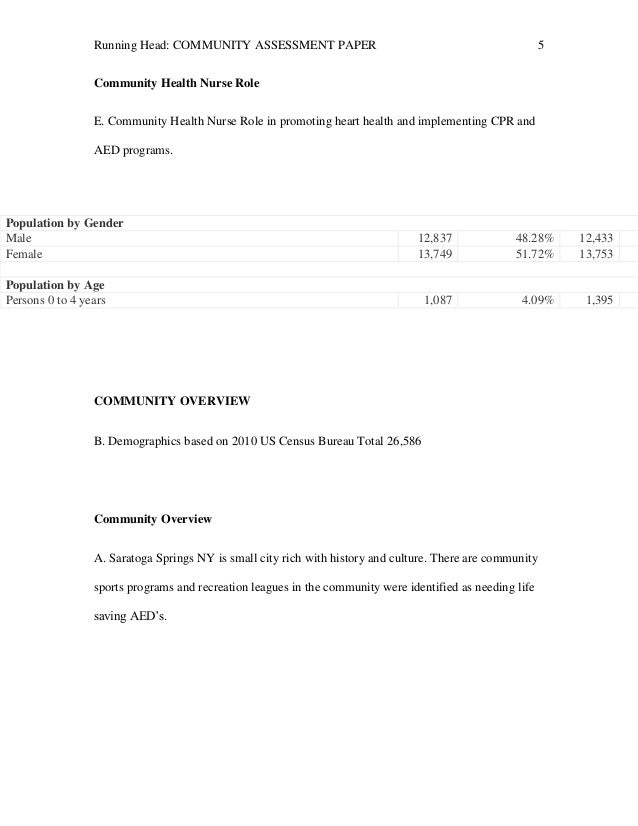 Community assessment paper