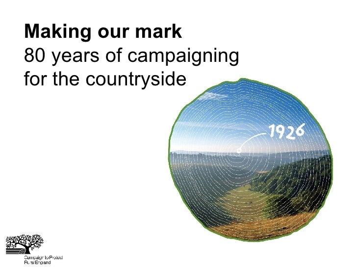 Making our mark 80 years of campaigning for the countryside
