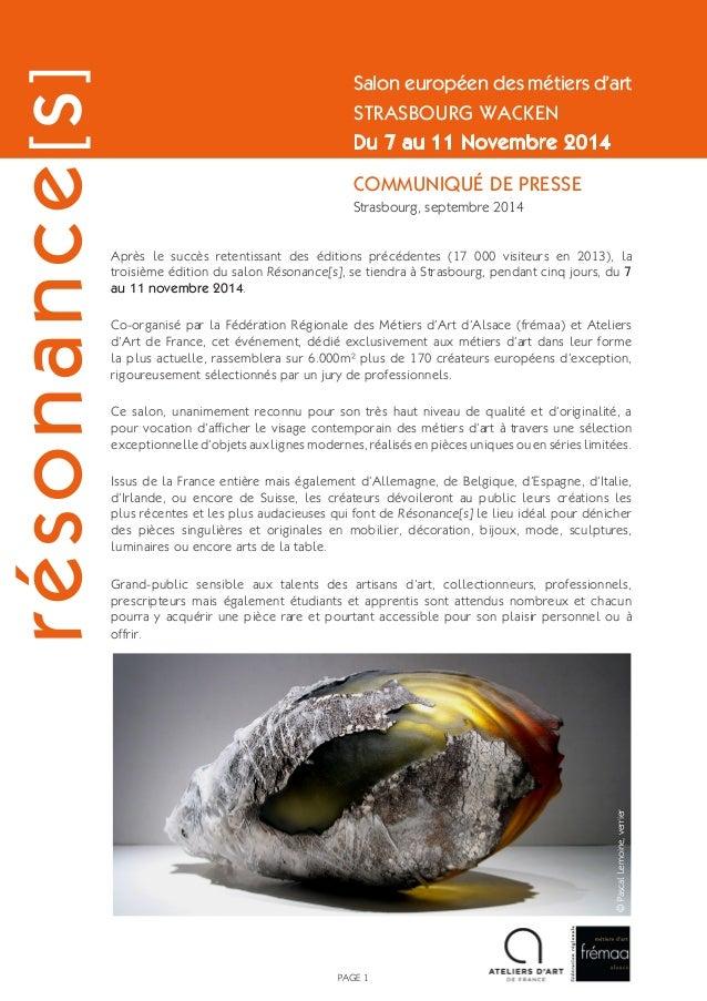 Après le succès retentissant des éditions précédentes (17 000 visiteurs en 2013), la troisième édition du salon Résonance[...