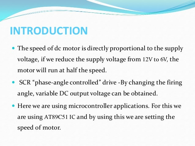 TO control the speed of DC Motor Simple Project Slide 3