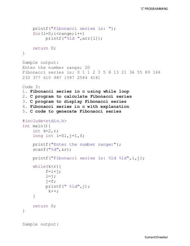 Define Fibonacci series - Write a program to print fibonacci series in c#