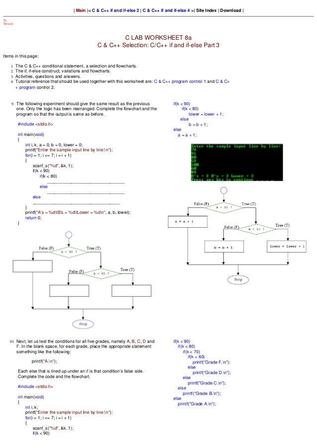   Main  < C & C++ if and if-else 2   C & C++ if and if-else 4 >  Site Index   Download                                    ...