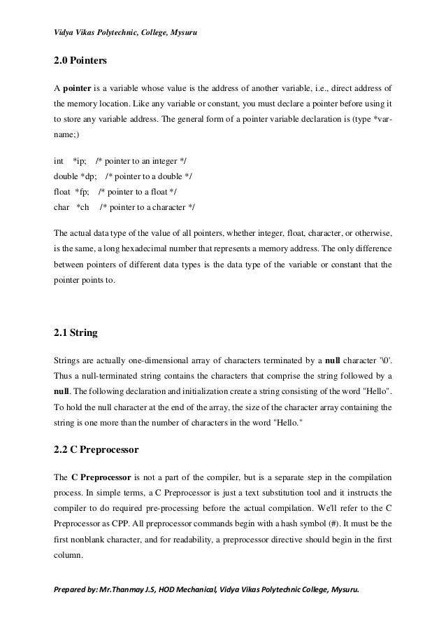 c programming lab Past exam papers: programming in c and c++ solution notes are available for many past questions they were produced by question setters, primarily for the benefit of the examiners.
