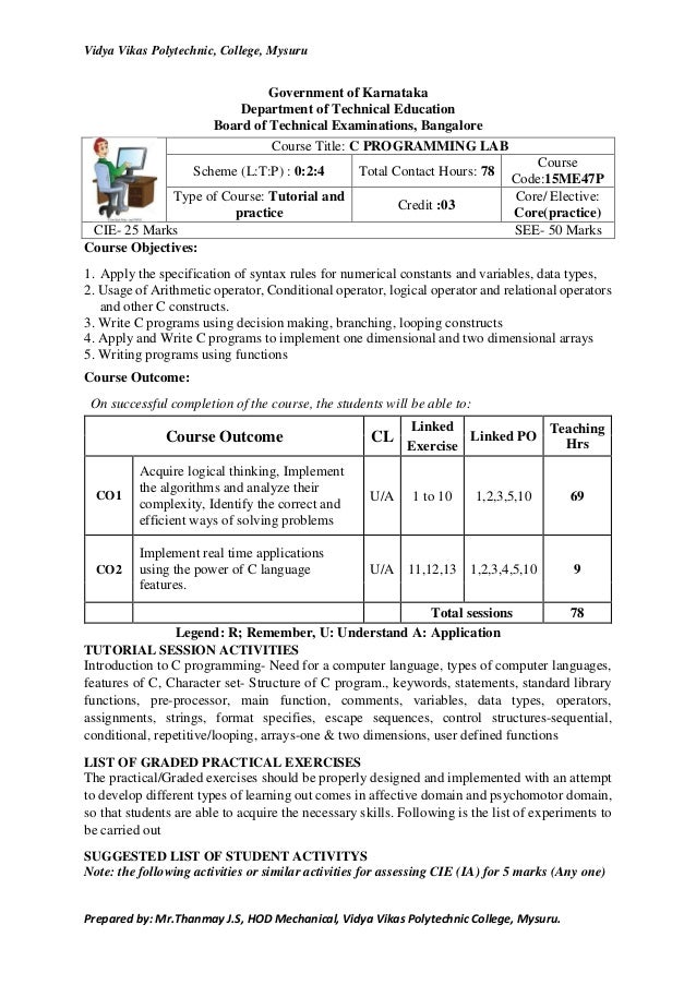 Lab manual of c++.