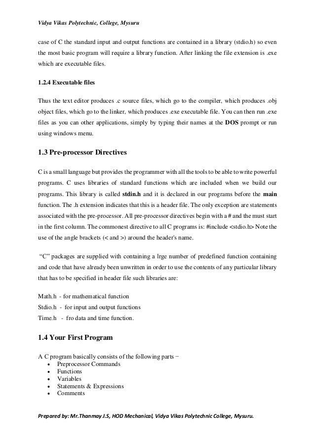 C programming Lab Manual 15 me47p
