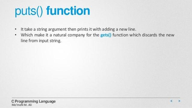 puts c function