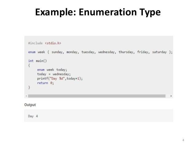 C programming enumeration example enumeration type 4 malvernweather Image collections