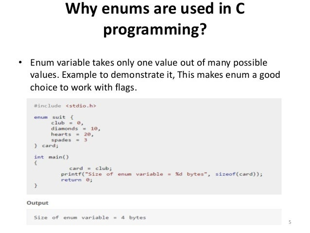 C programming enumeration example enumeration type 4 5 why enums malvernweather Image collections