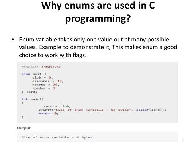 Example: Enumeration Type 4; 5.