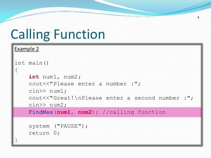 C Programming Function