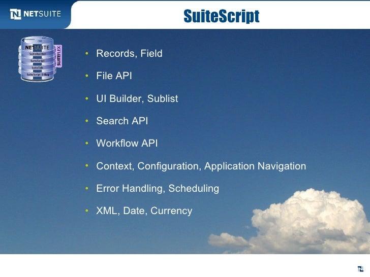 Suiteflex Application Development