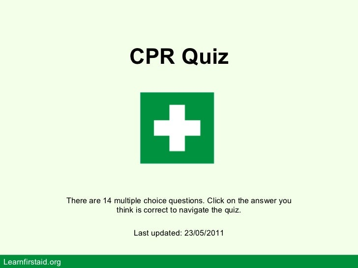 cpr quiz - free online first aid training
