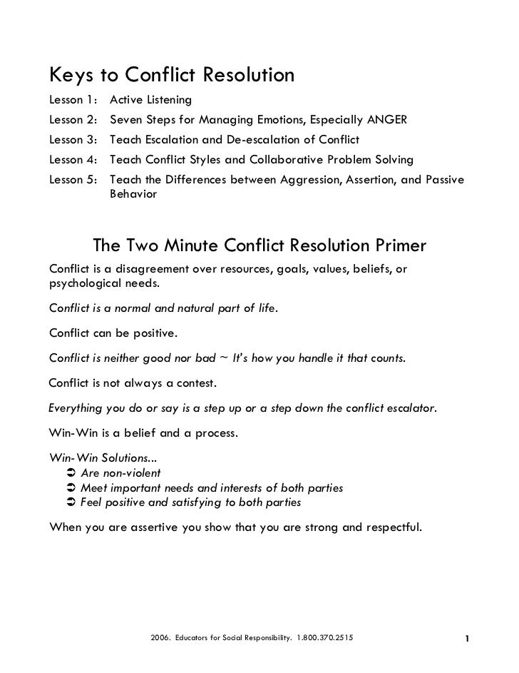 win-win approach to conflict resolution essay Win-win approach to conflict resolution essay sample i was reading about win-win conflict in the class textbook and think that the topic was very well stated however, i felt that in my 19 years in the air force and my 12 years of managerial leadership skills, there are more to the win-win approach than the book mentions.