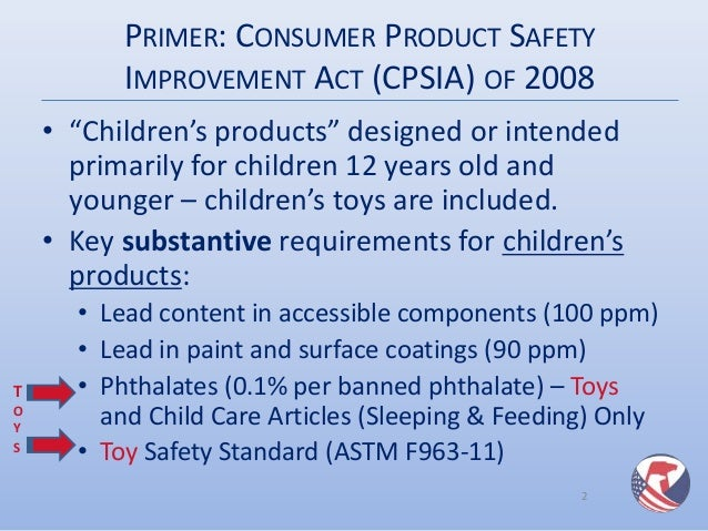 Cpsc toy fair presentation third party testing rules for for When was lead paint banned