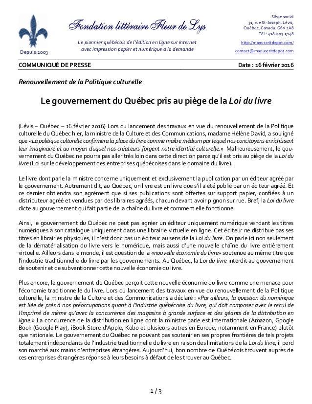 Depuis2003  Lepionnierquébécoisdel'éditionenlignesurInternet avecimpressionpapieretnumériqueàladema...