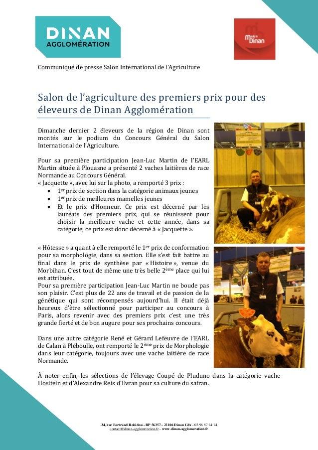 Salon de l agriculture des premiers prix pour des leveurs de dinan a - Prix salon de l agriculture ...