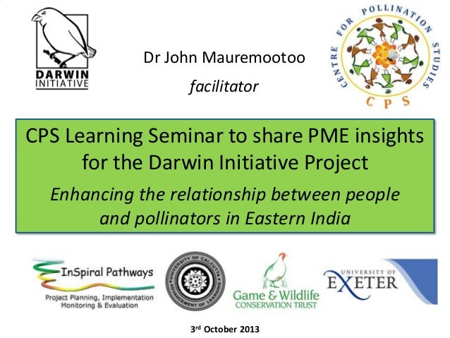 Dr John Mauremootoo facilitator  CPS Learning Seminar to share PME insights for the Darwin Initiative Project Enhancing th...